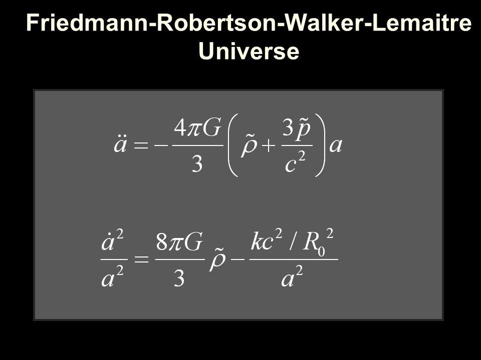 Friedmann-Robertson-Walker-Lemaitre Universe