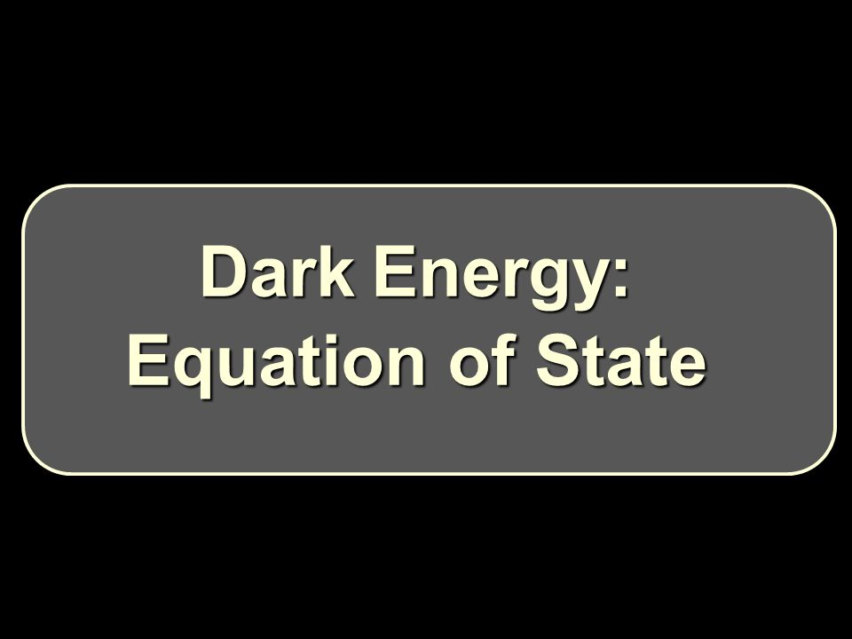Dark Energy: Equation of State
