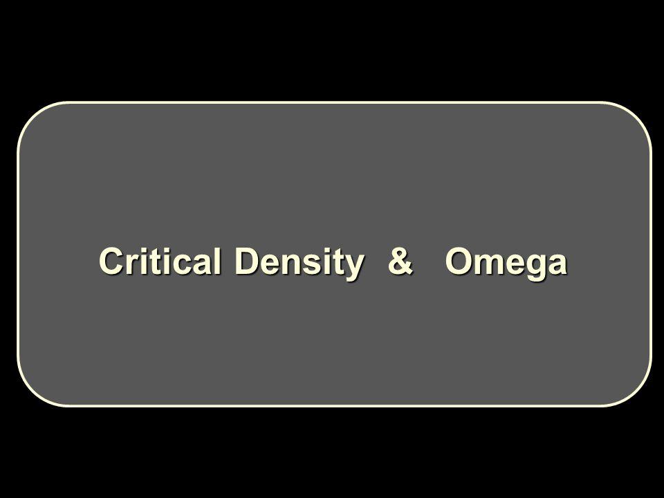 Critical Density & Omega Critical Density & Omega