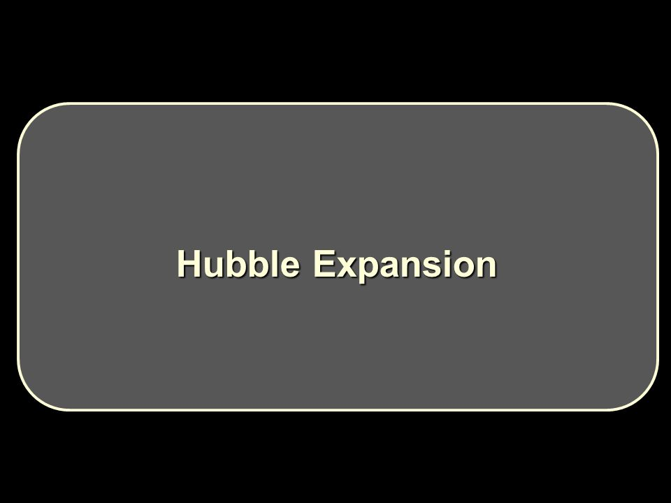 Hubble Expansion Hubble Expansion