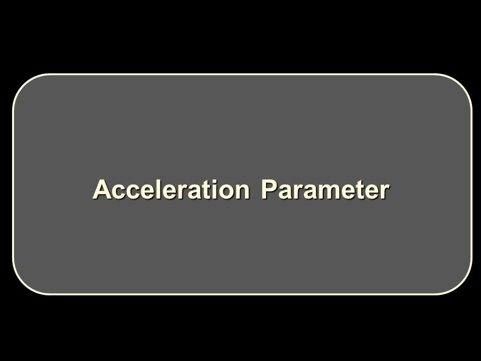 Acceleration Parameter Acceleration Parameter