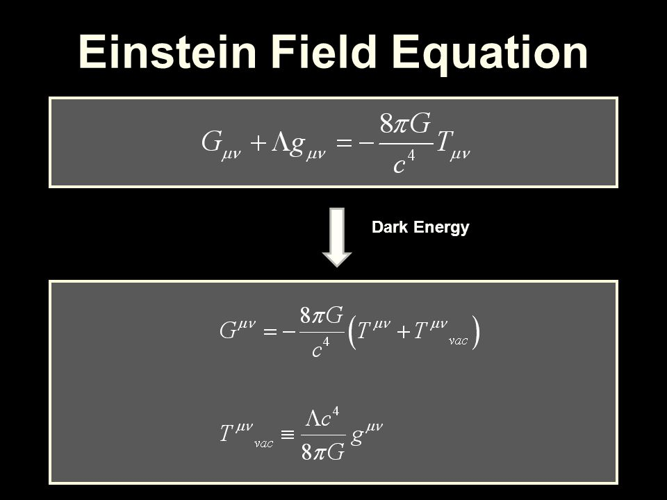 Einstein Field Equation Dark Energy