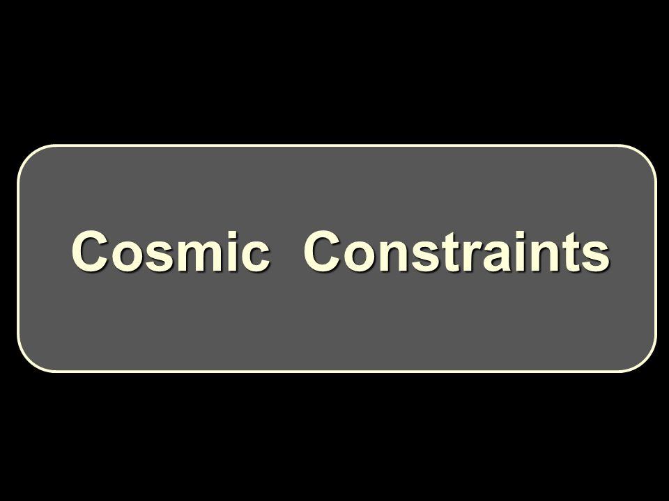 Cosmic Constraints Cosmic Constraints