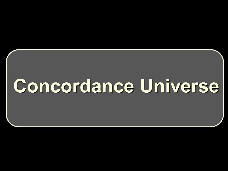 Concordance Universe Concordance Universe