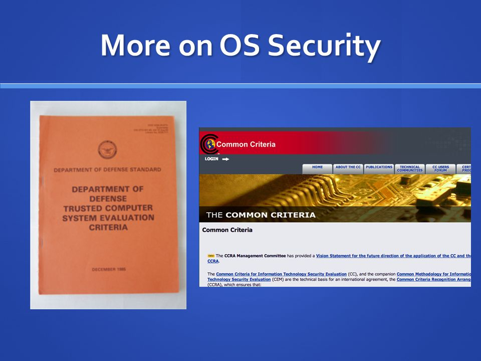 More on OS Security