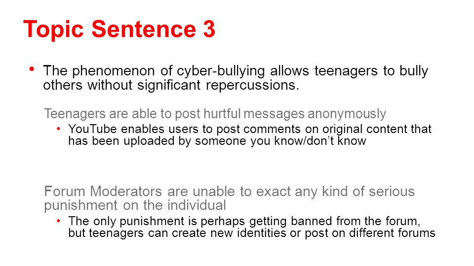 The phenomenon of cyber-bullying allows teenagers to bully others without significant repercussions.