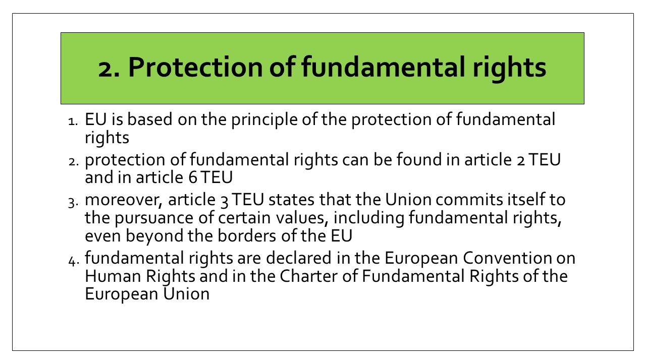 2.Protection of fundamental rights 1.