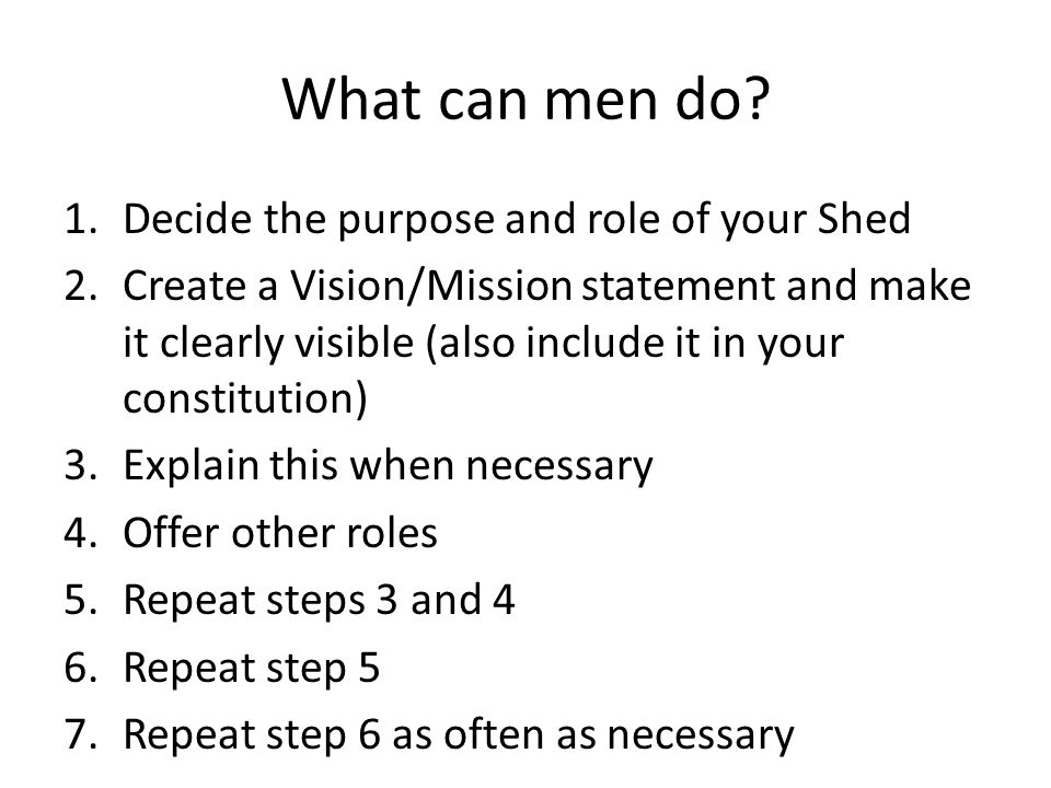 What can men do.