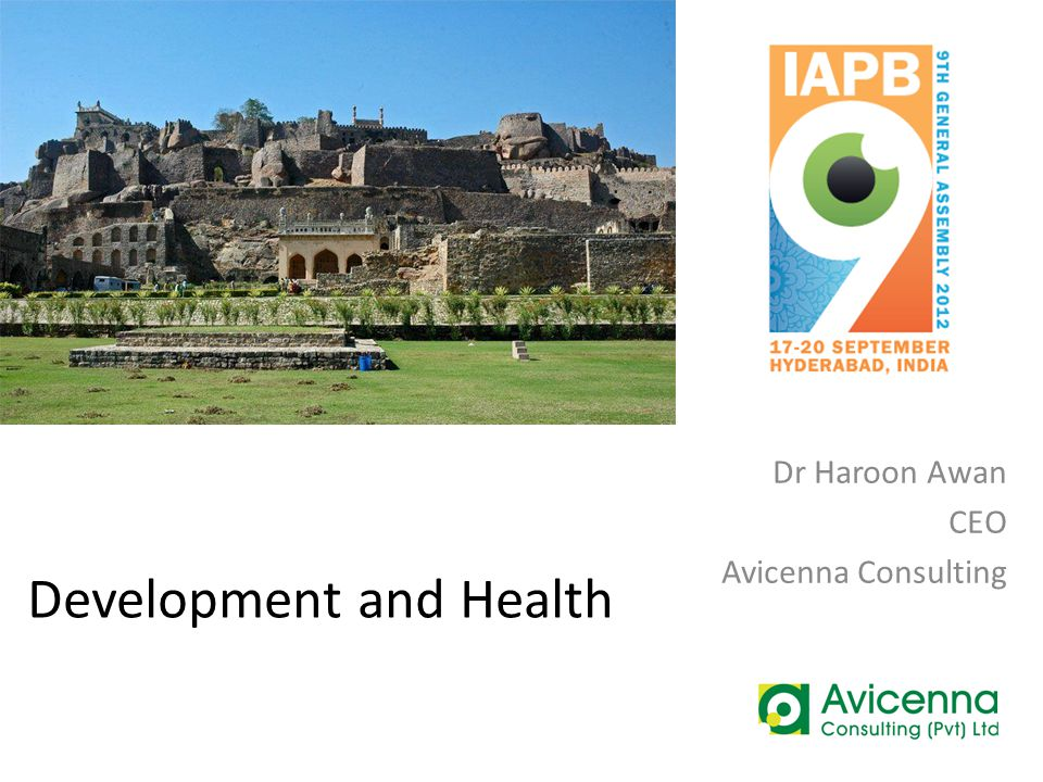 Development and Health Dr Haroon Awan CEO Avicenna Consulting