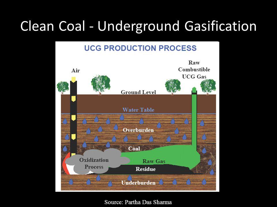 Clean Coal - Underground Gasification Source: Partha Das Sharma
