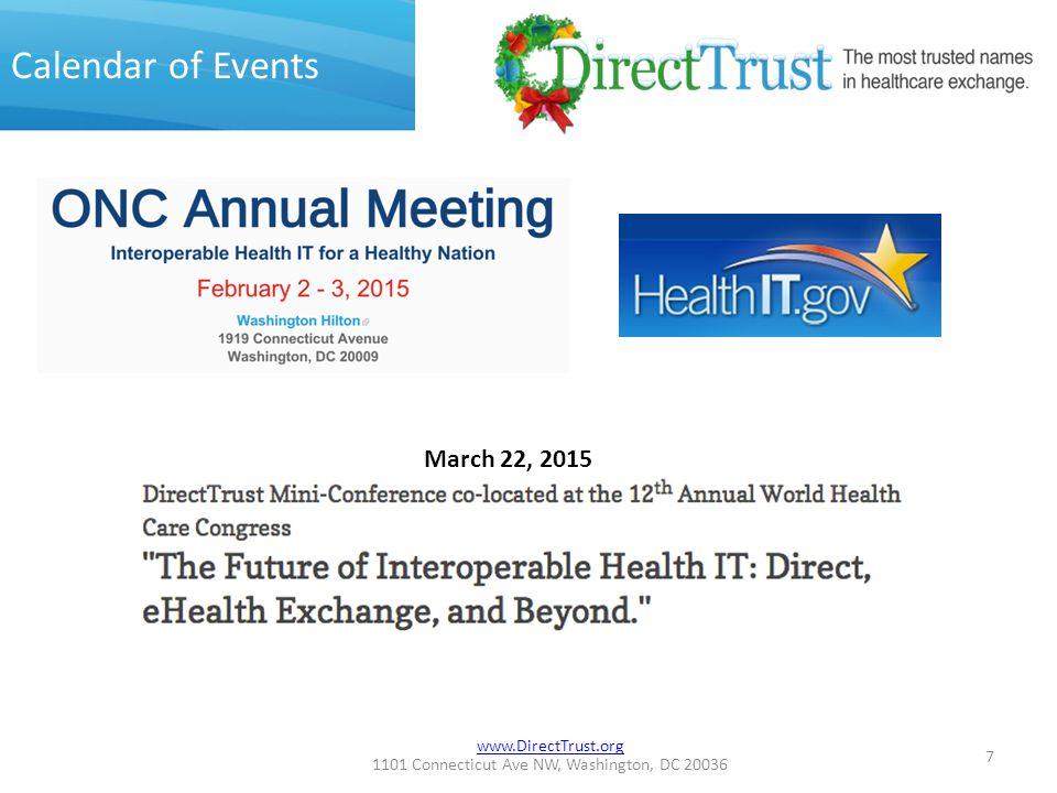 www.DirectTrust.org 1101 Connecticut Ave NW, Washington, DC 20036 Mini-Conference Agenda 8