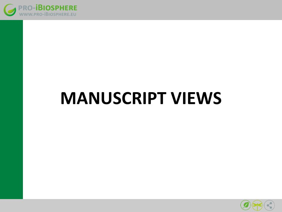 MANUSCRIPT VIEWS
