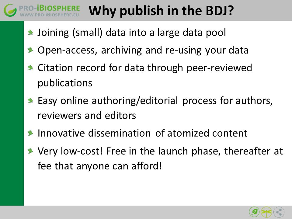Why publish in the BDJ.