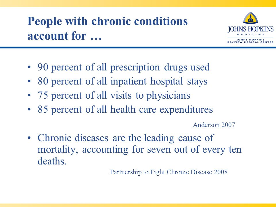 Health Care for Chronic Conditions Where is most health care provided.