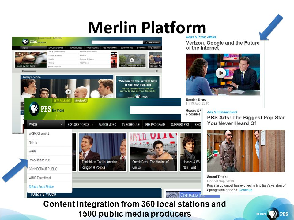 Merlin Platform Content integration from 360 local stations and 1500 public media producers