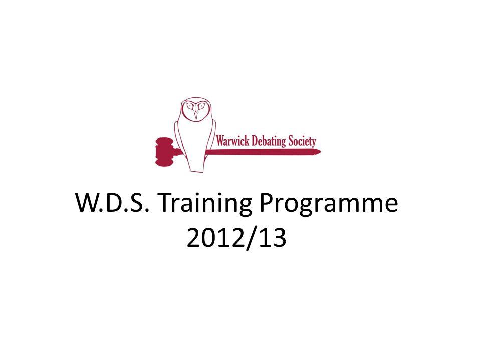 W.D.S. Training Programme 2012/13