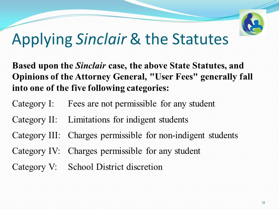 Based upon the Sinclair case, the above State Statutes, and Opinions of the Attorney General,
