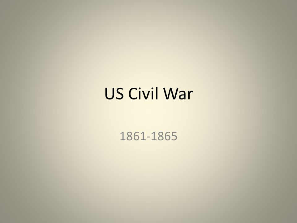 US Civil War 1861-1865