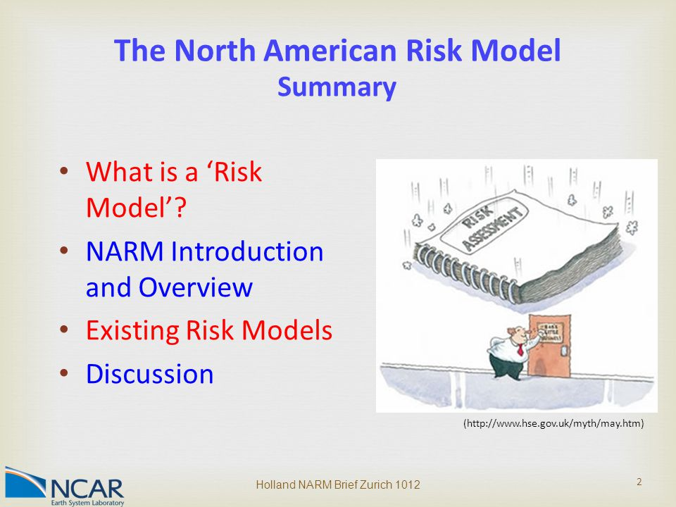 2 The North American Risk Model What is a 'Risk Model'.