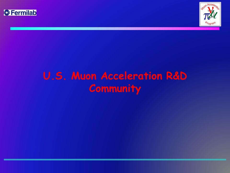 U.S. Muon Acceleration R&D Community