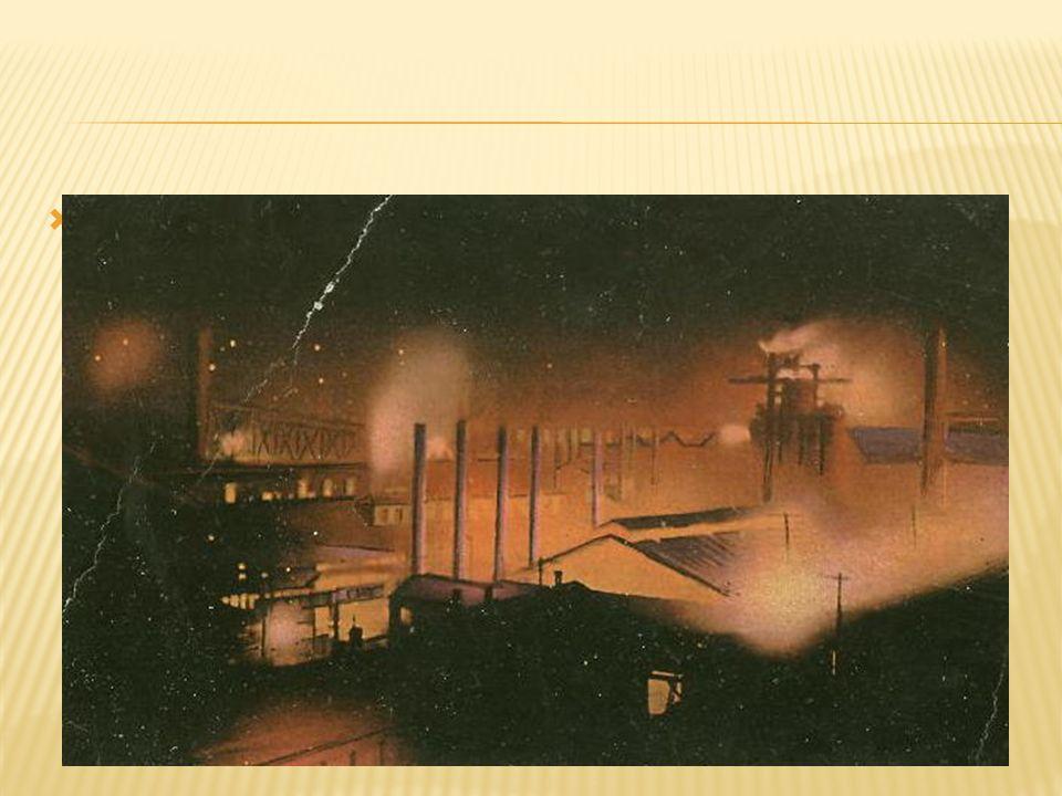  Steel Mill at night.
