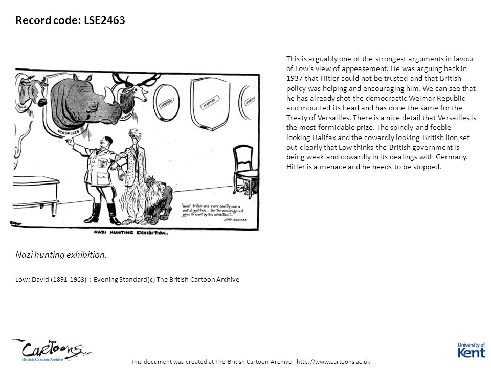 This document was created at The British Cartoon Archive - http://www.cartoons.ac.uk Record code: LSE2463 Nazi hunting exhibition.