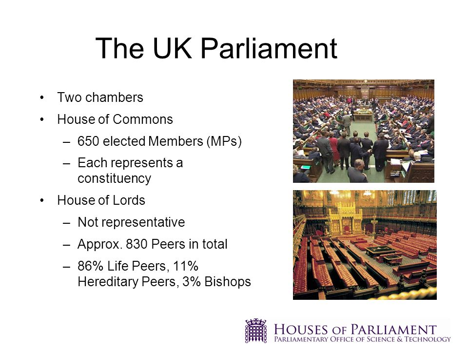 'The Executive' Is formed by the party or coalition with the most seats in the House of Commons.