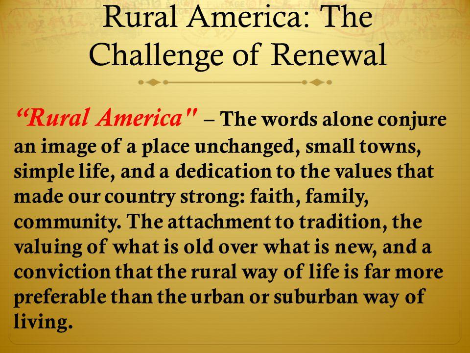Church Revitalization Realities in Rural America.