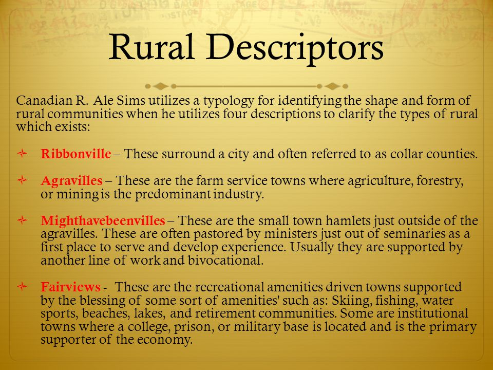 A New Image of Rural America  Popular images of rural1 America are often based on outdated stereotypes that equate rural areas with farming.