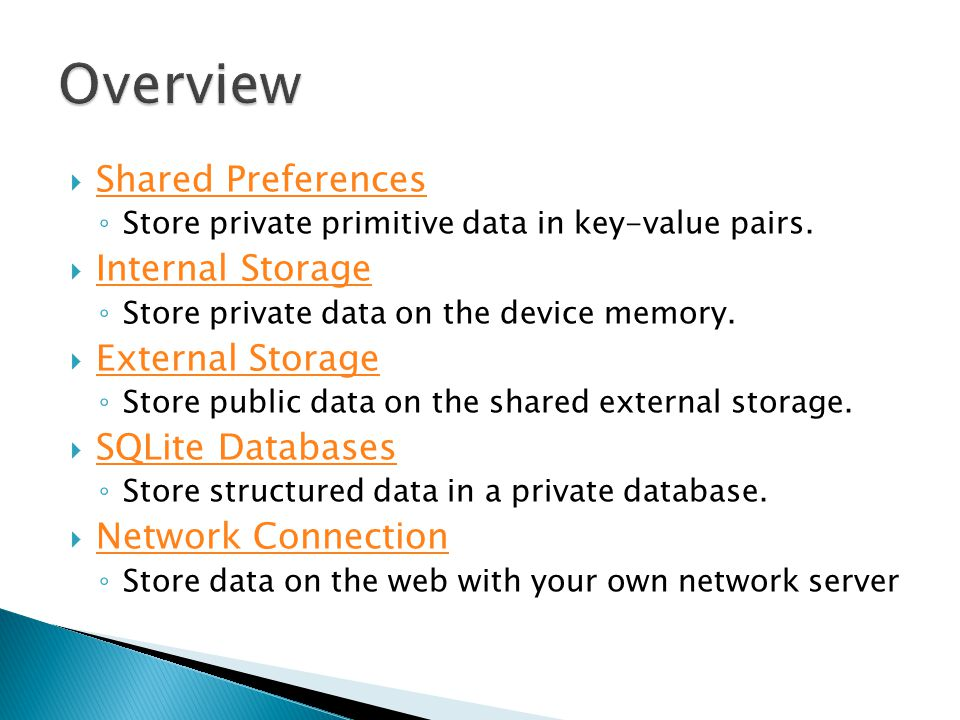 Store private primitive data in key-value pairs
