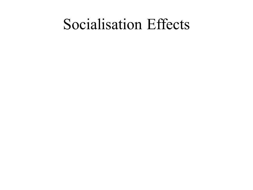 Socialisation Effects