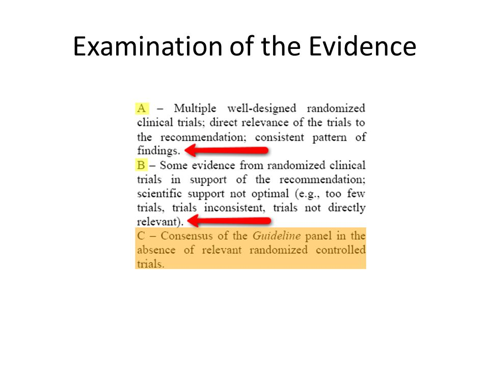 Examination of the Evidence