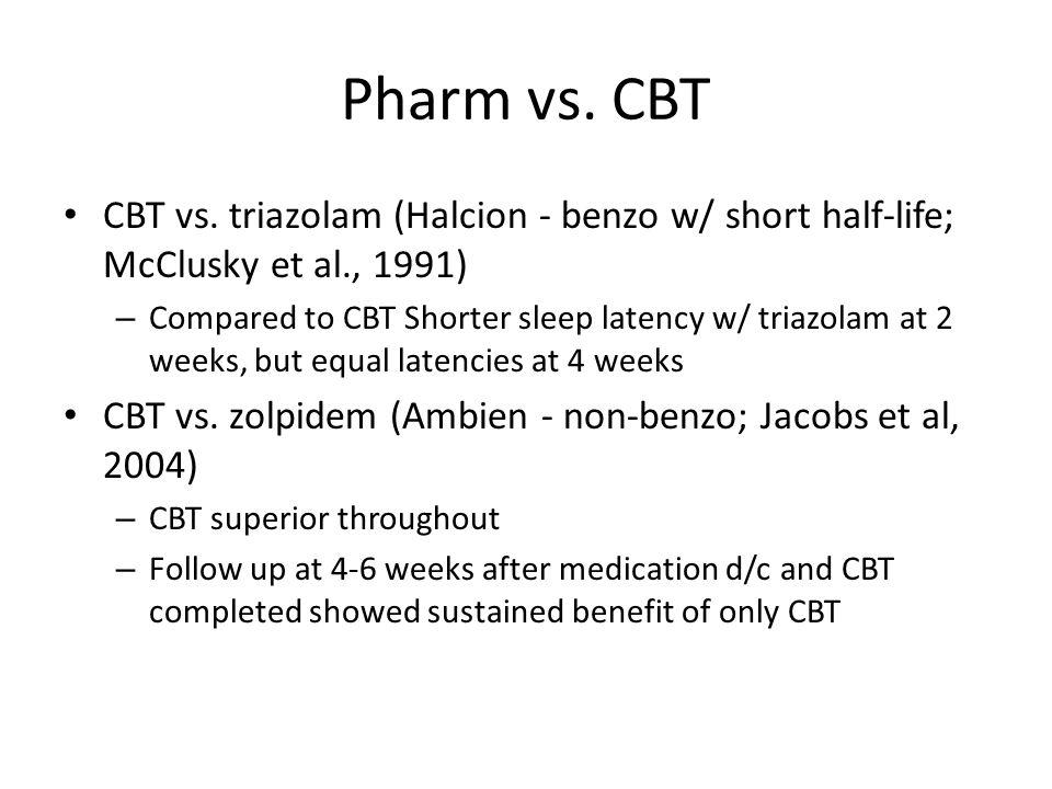 Pharm vs. CBT CBT vs.
