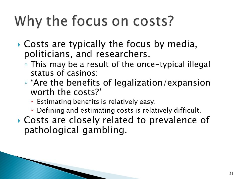  Costs are typically the focus by media, politicians, and researchers.