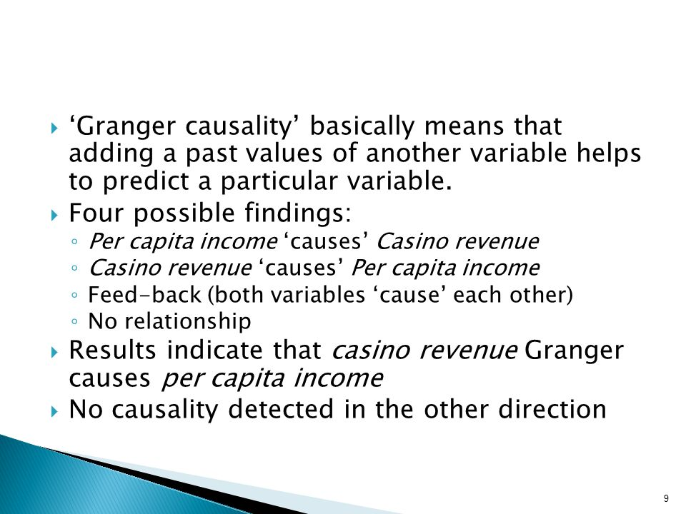  'Granger causality' basically means that adding a past values of another variable helps to predict a particular variable.