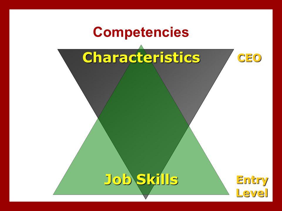 Competencies Job Skills Characteristics EntryLevel CEO