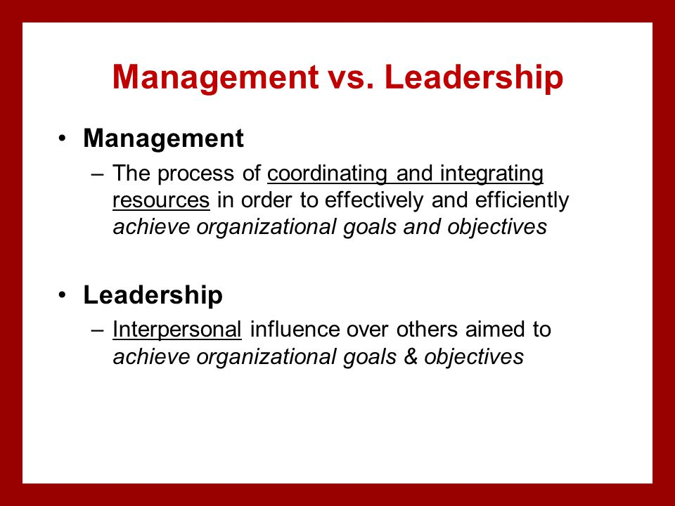 Management vs.