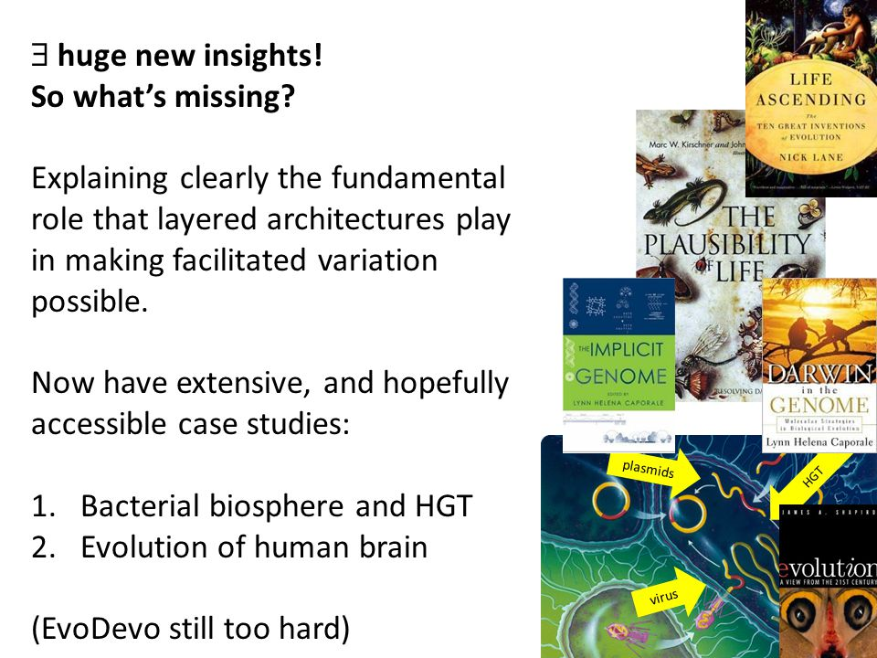 plasmids virus HGT  huge new insights. So what's missing.
