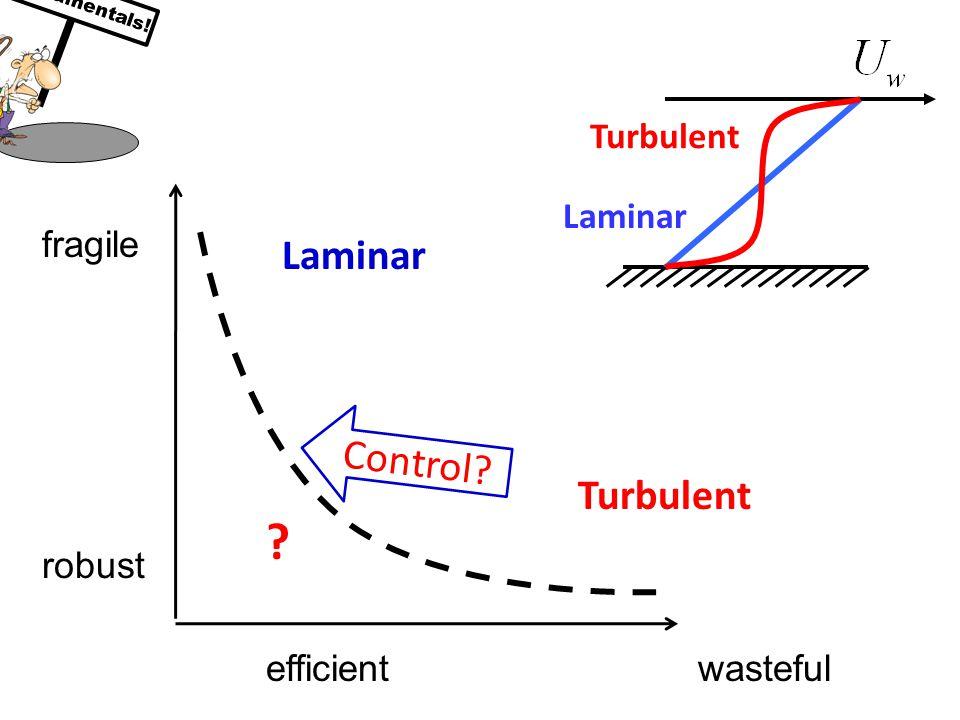 wasteful fragile Laminar Turbulent efficient robust Laminar Turbulent Control Fundamentals!