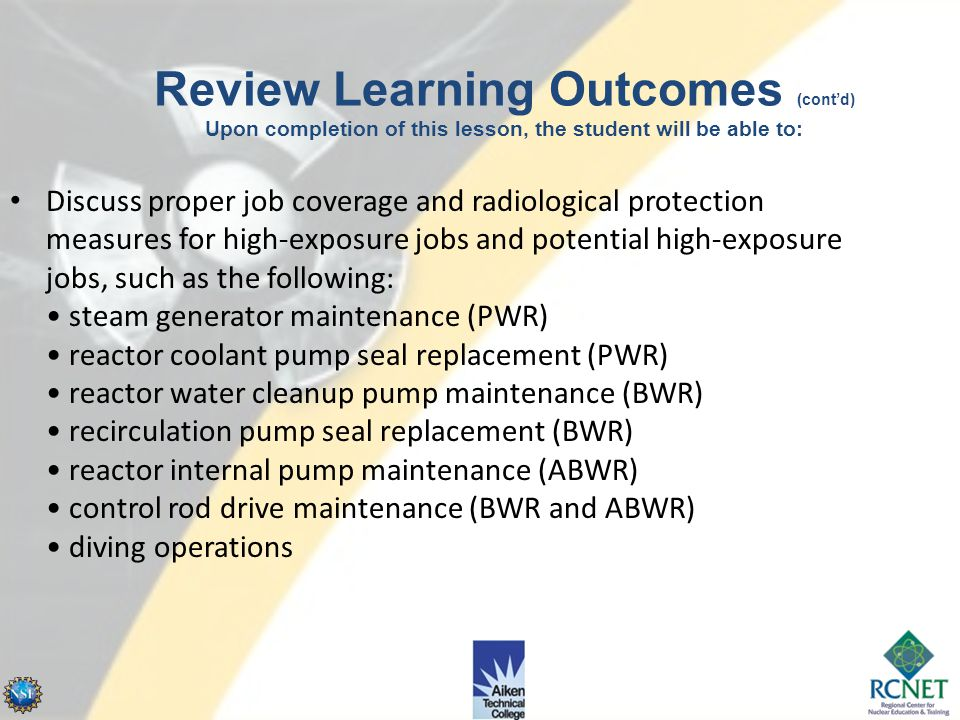 Describe actions required when personnel leave a work site upon completion of radiological work, such as: – packaging, marking, and transferring conta