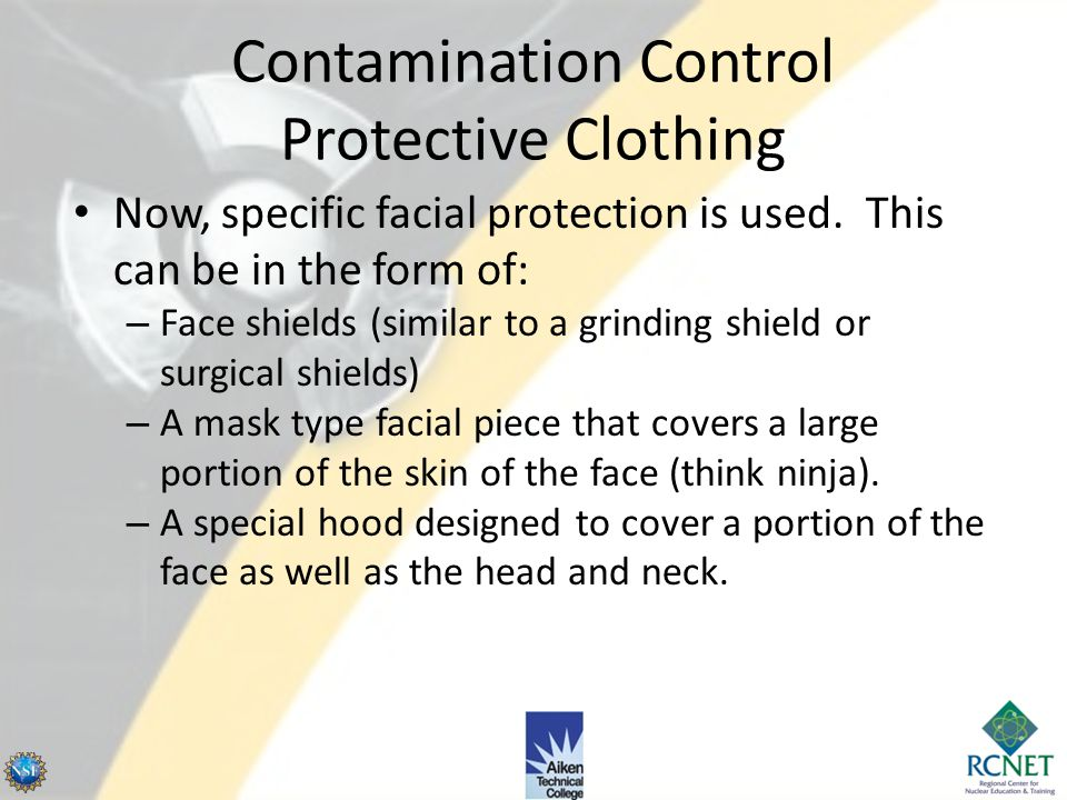 Contamination Control Protective Clothing Hot particle zones will usually require the use of disposable material that is segregated from other materia