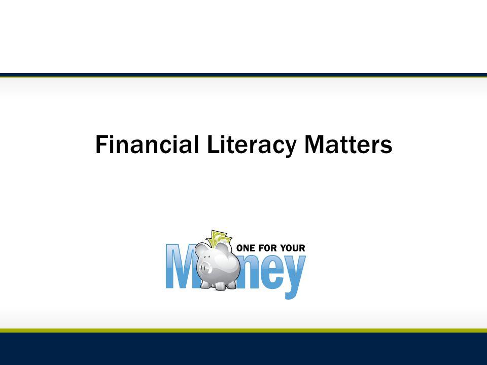 Financial Literacy Matters