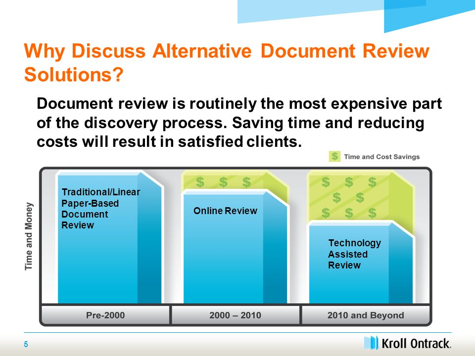 Why Discuss Alternative Document Review Solutions.