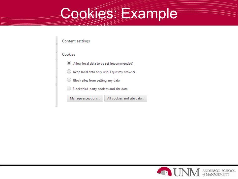 Cookies: Example