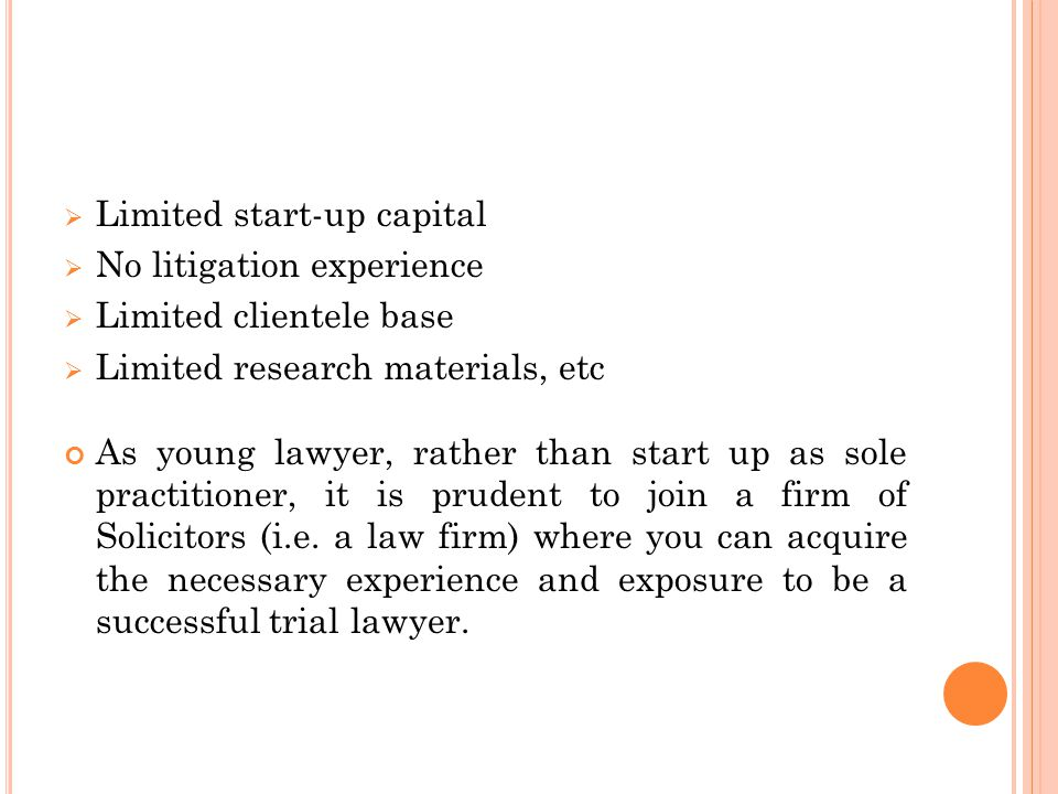 F INDING A C ORE L ITIGATION F IRM As young lawyer, joining a law firm isn't as vital as finding a core litigation firm.