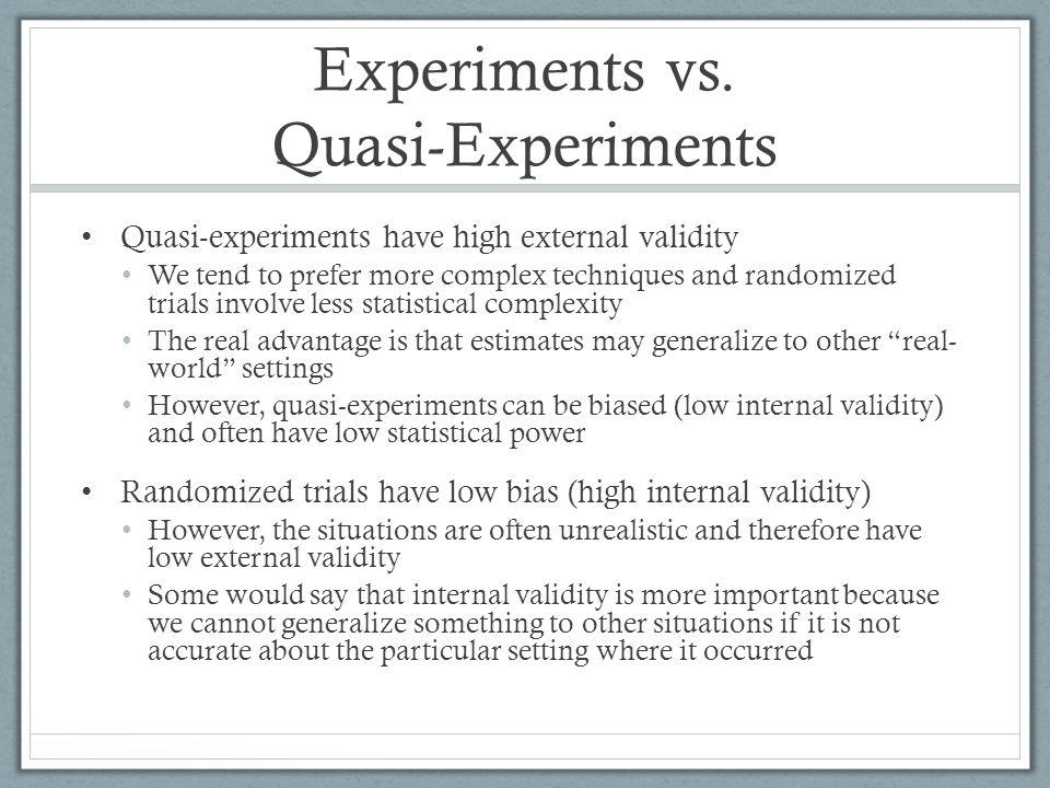 Experiments vs.