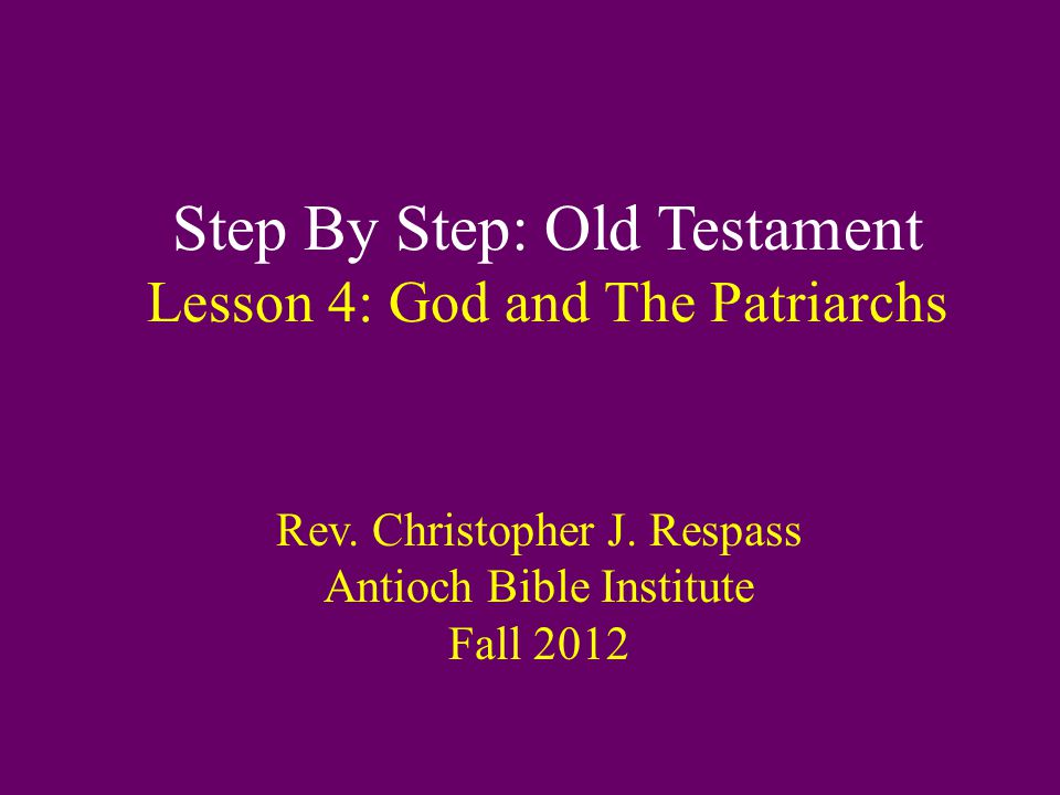 God and the Patriarchs: Abraham D.Consequences of Acting in the Flesh 1.