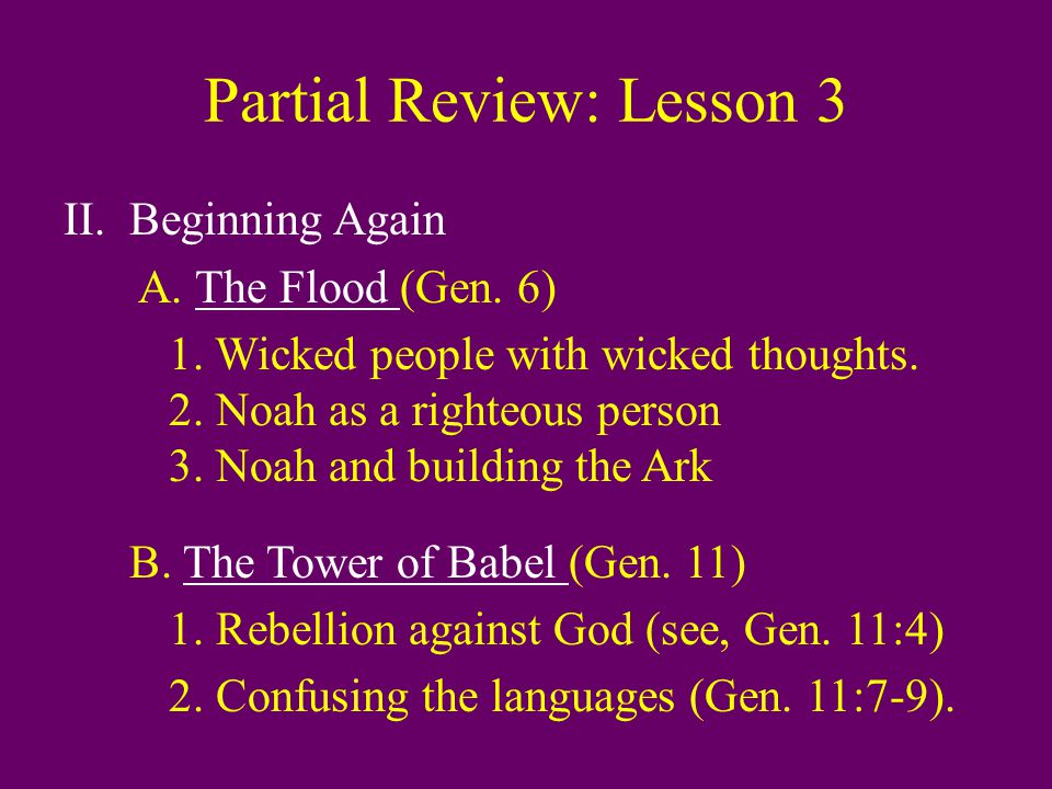 God and the Patriarchs: Abraham D.God's Promise to Abraham 1.