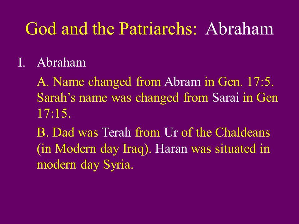 God and the Patriarchs: Abraham IV.Abraham and Hagar (Gen.