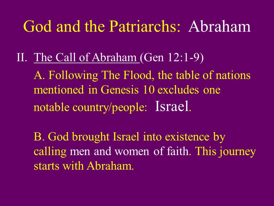 God and the Patriarchs: Abraham D.Tension between Sarah and Hagar (v.4-6).
